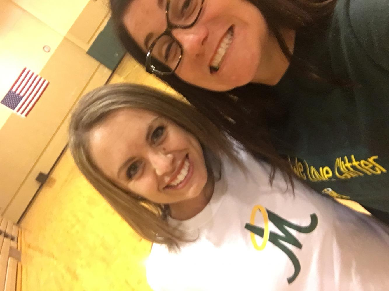 The Jessica take a quick selfie before an afternoon practice! Pictured on the left is Jessica Bradshaw and to the right is Jessica Zeigler. (Photo courtesy of Jessica Zeigler)