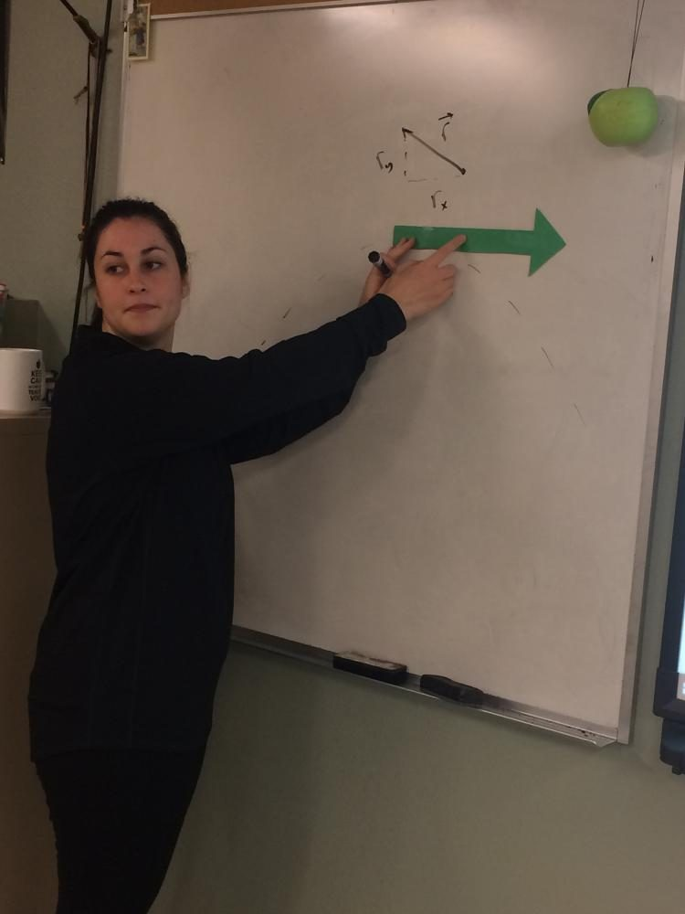 Ms.+Chiavini+teaches+her+students+a+physics+concept.