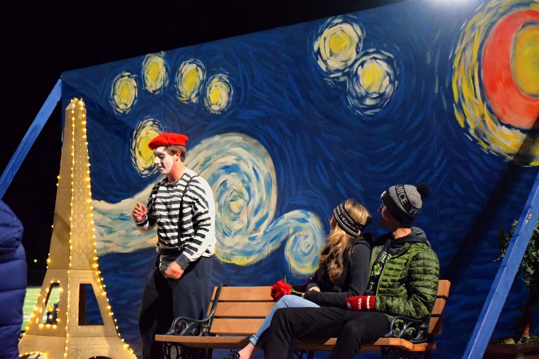 The Seniors' Parisian-themed float stole the show.