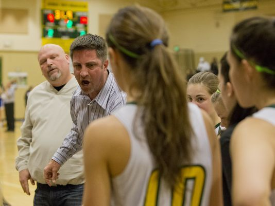 Craig Holt is shown coaching Manogue girls basketball in 2014.  Photo credits to Tom R. Smedes/Special to the RGJ and Reno Gazette-Journal.