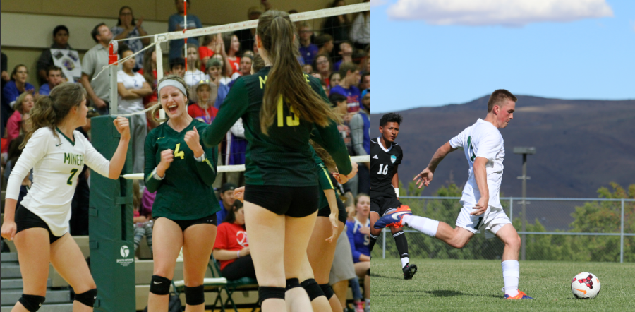 Girls volleyball and boys soccer were both recognized for their academic excellence.