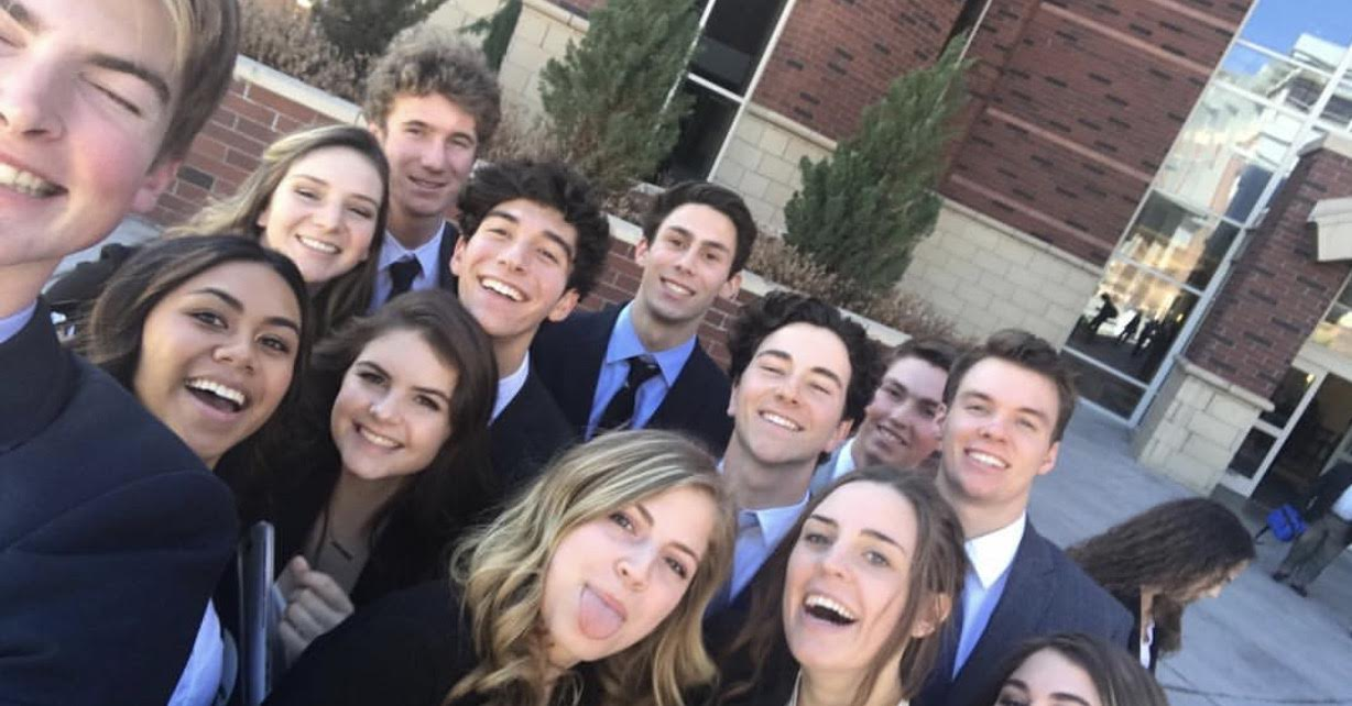We the people gang flash a group selfie after winning third place in districts.