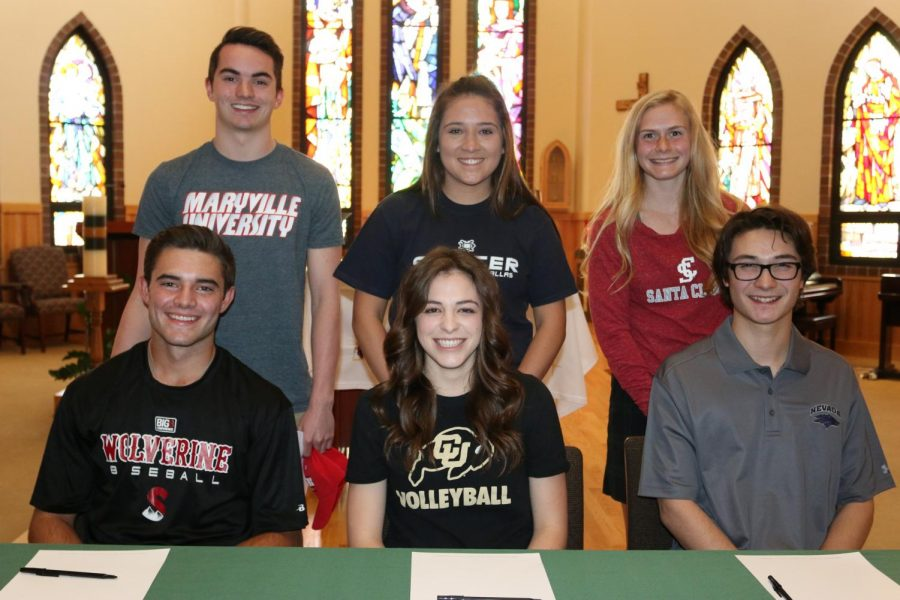 Athletes Sign for College Sports. (Photo courtesy Jackie Cavilia)