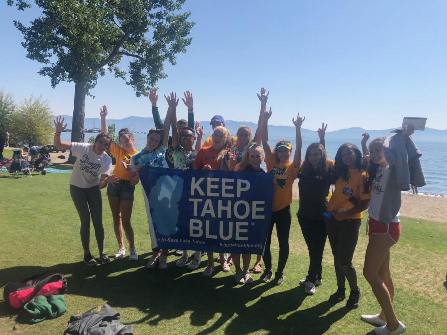 Thirteen club members worked tirelessly on Labor Day to help the League to Save Lake Tahoe pick up 240 pounds of trash in Tahoe City.