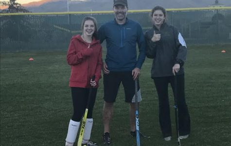 Liv Lister, Coach Jason, and Maddy Lister pose for a picture!