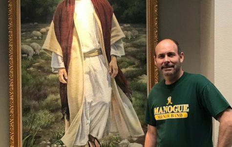 Brian Gurczynski poses for a picture next to Jesus.