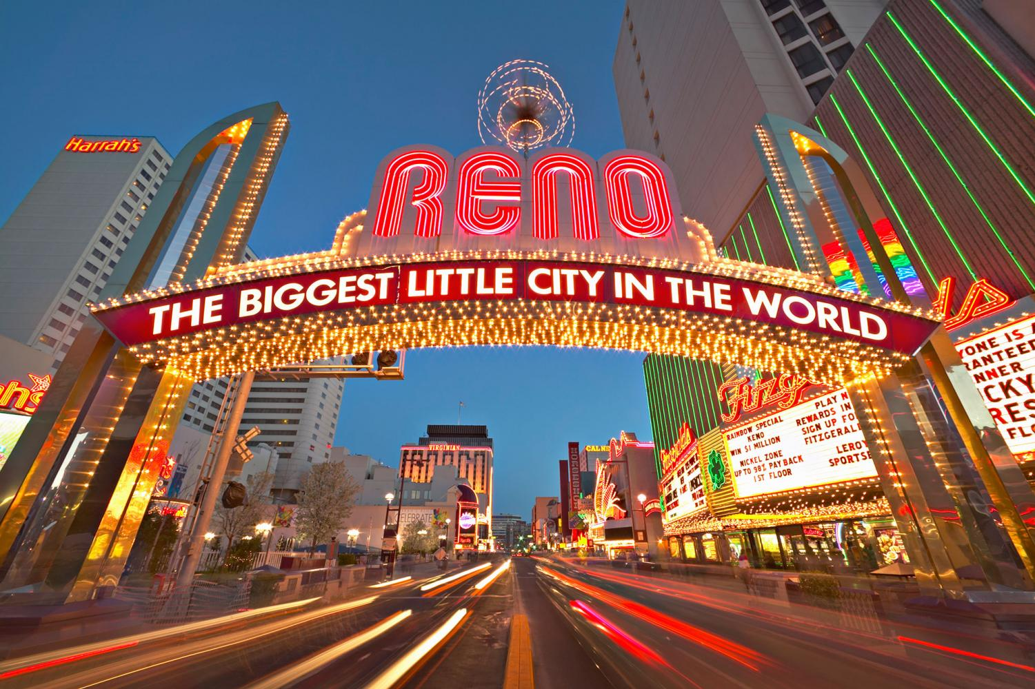 The famous Reno arch. Photo courtesy of Google.
