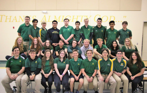 The Bishop Manogue Bowling team poses for a photo in the cafeteria. Photo courtesy of the Bishop Manogue Yearbook Staff.