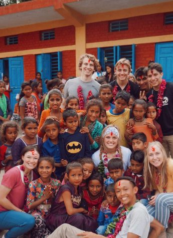 The buildOn trip to Nepal over Spring Break 2019. Photo courtesy of Jeffrey Arao.